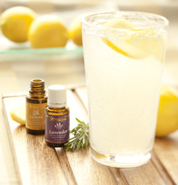 Lemon essential oil in water